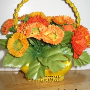 карзина с цветами своими руками