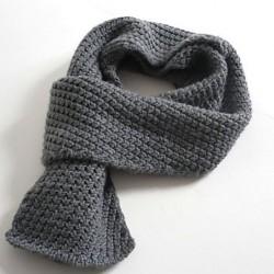 Как связать мужской шарф?