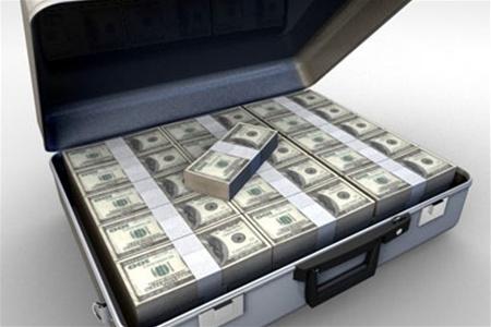 Кейс с напечатанными деньгами