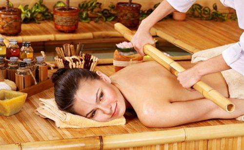 Японский массаж бамбуковыми палочками