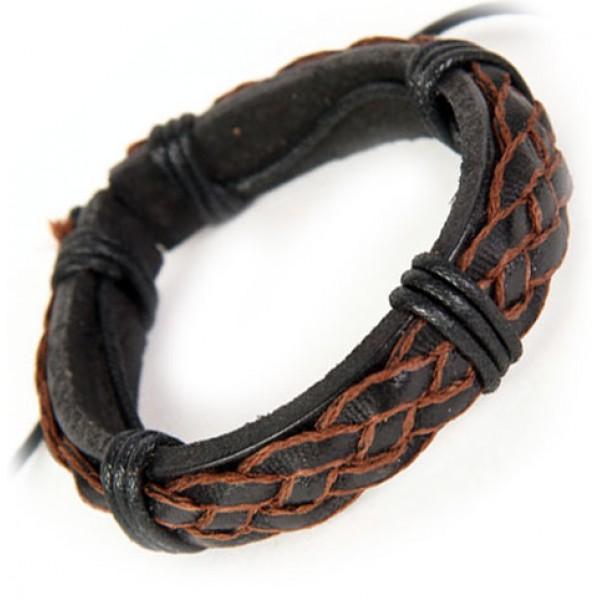 Мужские браслеты на руку из кожи своими руками