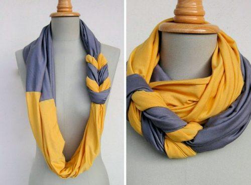 шарф из старой майки