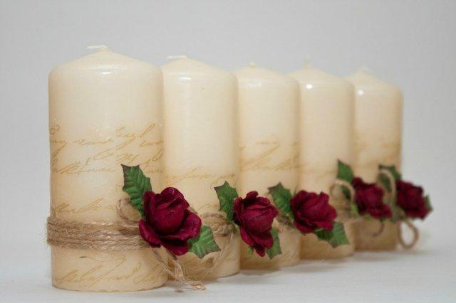 Декупаж свечи своими руками на свадьбу
