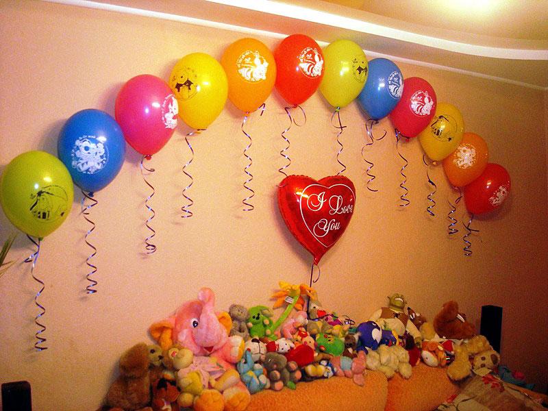 Как украсить комнату на день рождения девушке своими руками