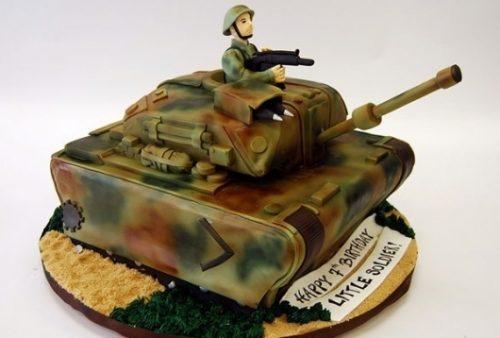 торт на военную тематику