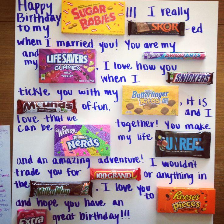 Ватман с шоколадками поздравления