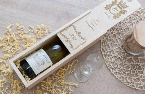 Коробка для вина «Поздравительная»