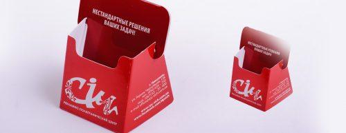 Нестандартная подставка для визиток