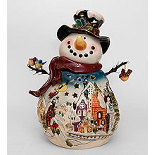 Подсвечник Снеговик