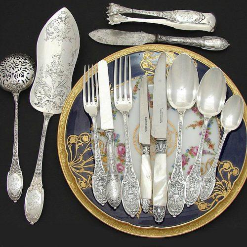 Серебряная посуда