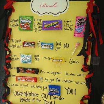плакат на день рождения с шоколадками