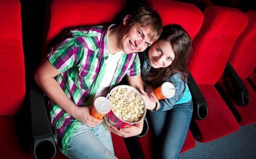 романтическое свидание в кино