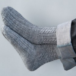 Как связать мужские носки?
