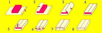 Фото инструкция упаковки прямоугольного  подарка